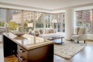one greenway luxury building bedroom view