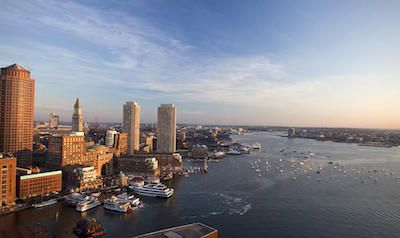 Boston Luxury Apartments: The Benjamin Seaport - Skyline View