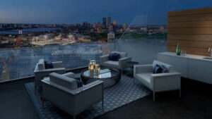 the pierce rooftop view boston