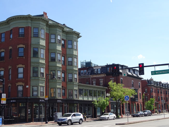 Buildings on Mass Ave in Boston's South End
