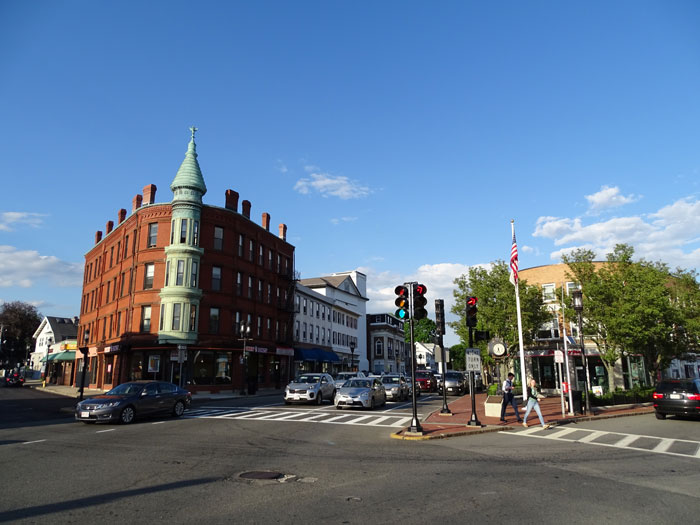 Busy Intersection in Medford