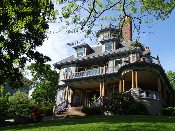House with Clear Sky Background In Jamaica Plain