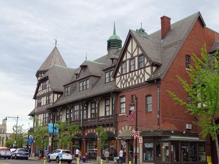 Front View of THe Calvin Building in Brookline
