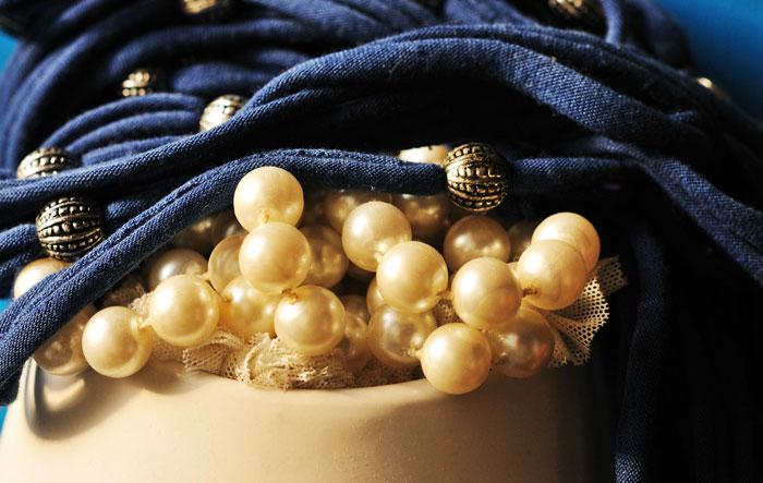 Pearls Inside a Handbag