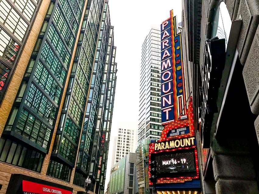 Boston Theater District Downtown