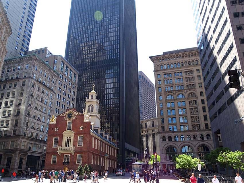 Downtown Boston Old State House.