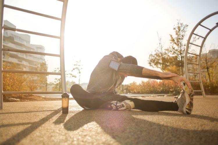 Flexible man Stretching