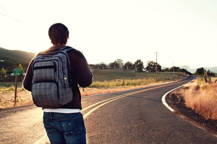 Man Facing Road Ahead