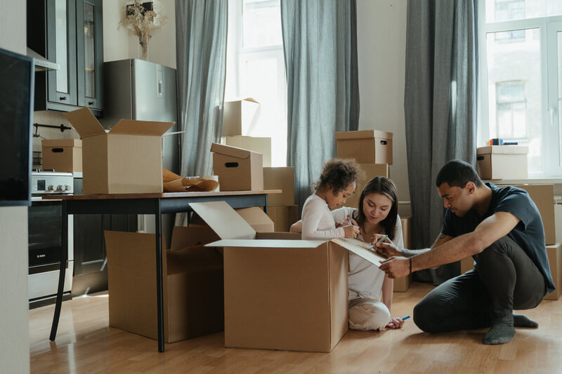 Family in New home using One plus boston mortgage
