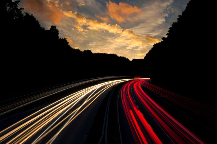 Timelapse Photography of Road With White and Red Lights