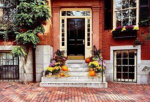 Pumpkins Outside Boston Apartment