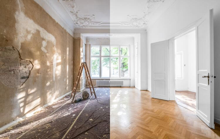 Apartment Before and After
