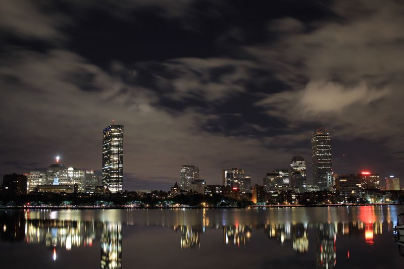 Boston Skyline and Reflection