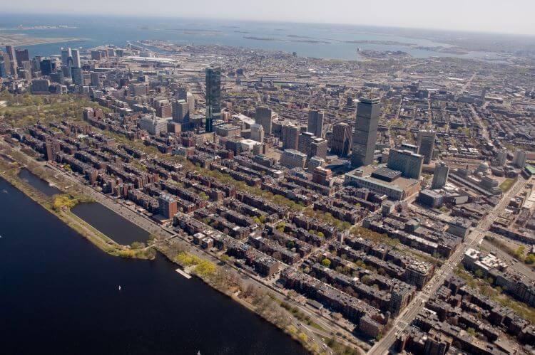 Boston Neighborhoods Aerial Shot