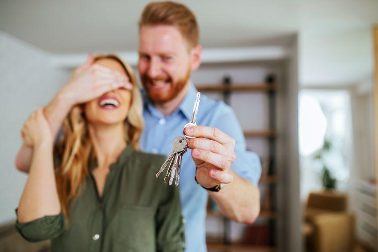 Happy couple building wealth