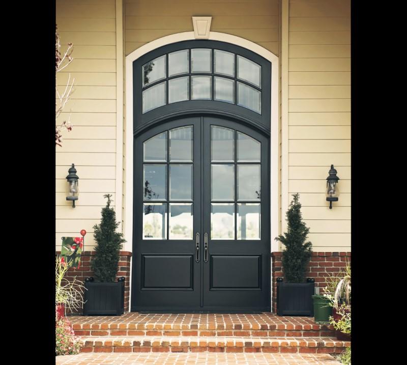 Modern Black Doors in Brookline