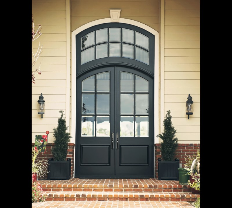 Modern Black Doors in Brookline