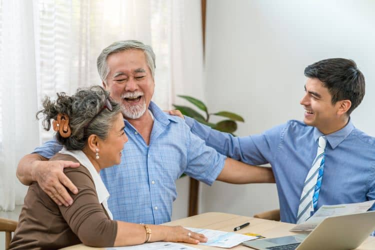 Real Estate Agent helping couple