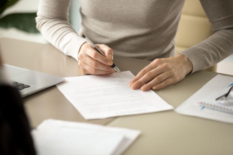 Signing Refinancing Paperwork