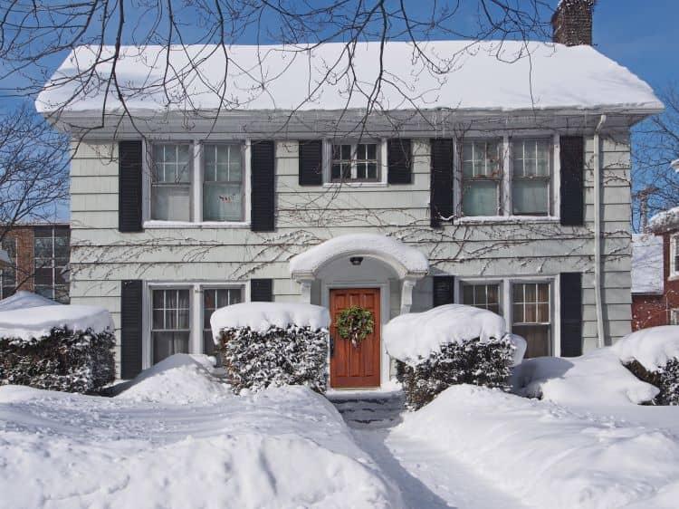Single Family Home Snow