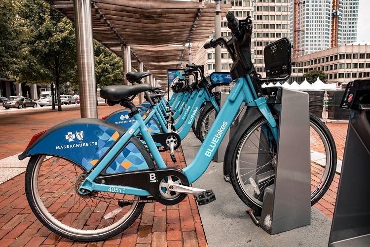 Blue bikes Boston